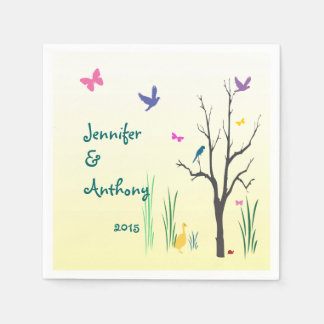 Springtime Wedding Disposable Napkins