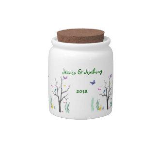 Springtime Wedding Favor Candy Jars