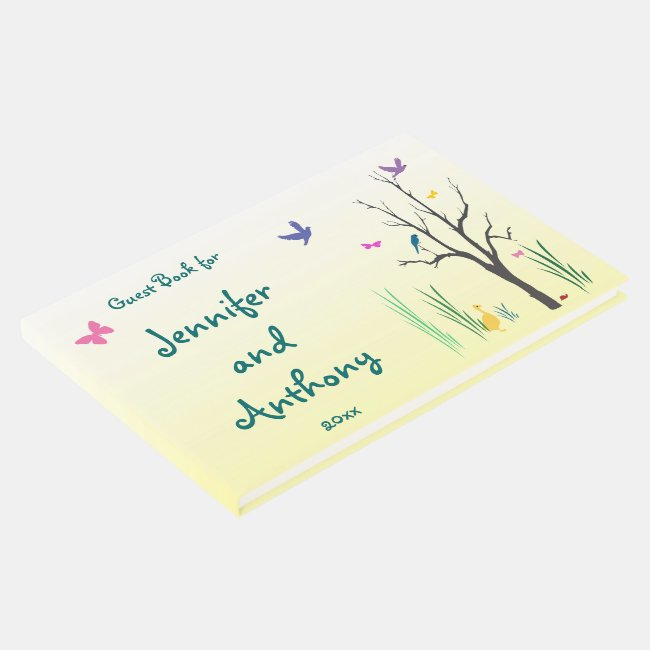 Springtime Wedding Guest Book