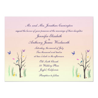 Springtime Wedding Personalized Announcement