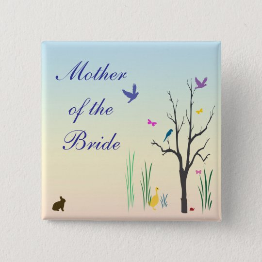 Springtime Wedding Mother of the Bride Pin