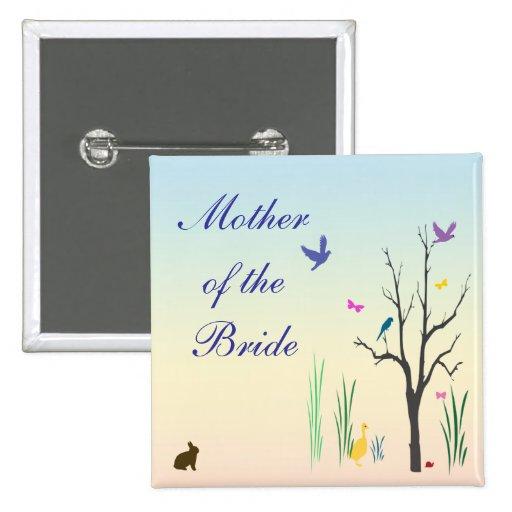 Springtime Wedding Mother of the Bride Pin