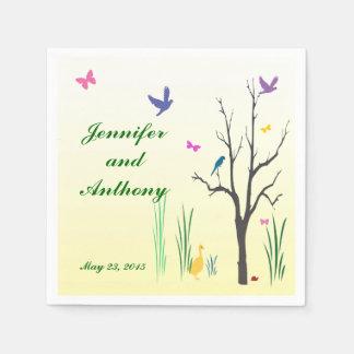 Springtime Wedding Paper Napkin