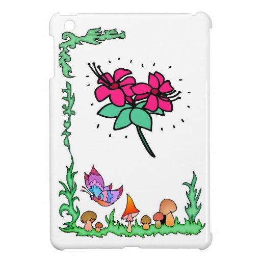 Springtime with fuschias iPad mini cases