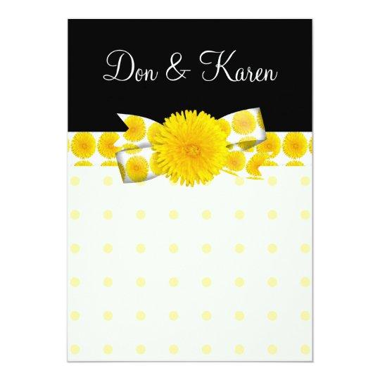 Springtime Yellow Dandelion Wedding Card