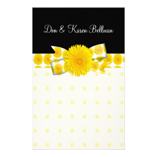Springtime Yellow Dandelion Wedding Stationery