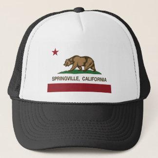 springville california state flag trucker hat