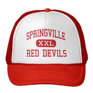 Springville - diablos rojos - alto - Springville U Gorro De Camionero