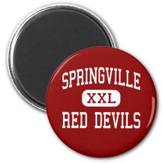 Springville - Red Devils - High - Springville Utah 2 Inch Round Magnet