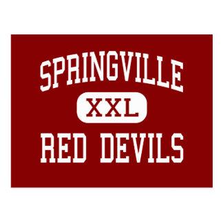 Springville - Red Devils - High - Springville Utah Postcard
