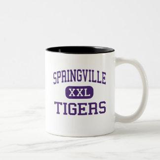 Springville - Tigers - High - Springville Alabama Two-Tone Coffee Mug