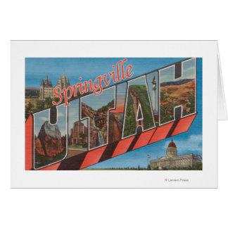 Springville, Utah - Large Letter Scenes Card