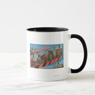 Springville, Utah - Large Letter Scenes Mug