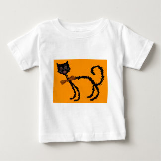 Springy Black Cat Halloween Decoration Baby T-Shirt