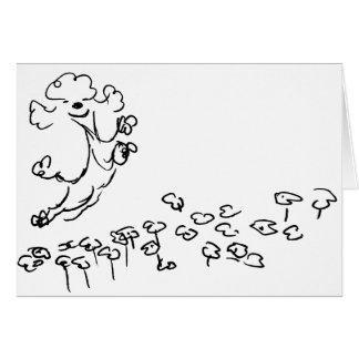 Springy Poodle Greeting Card