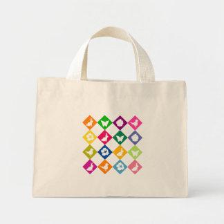 Springy squares canvas bag