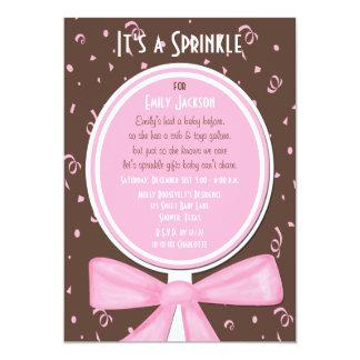 "Sprinkle Baby Invitation -- Girl Shower 5"" X 7"" Invitation Card"