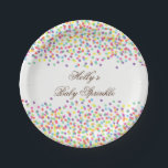 "Sprinkle Baby Shower Plates, Confetti Party Plates<br><div class=""desc"">Sprinkle Baby Shower Plates,  Confetti Party Plates</div>"