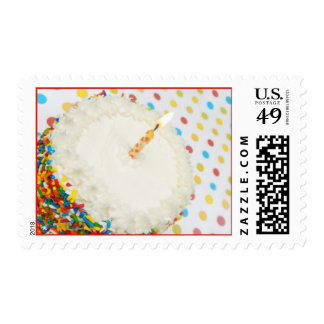 Sprinkle Birthday Cake + Polka Dots Stamp