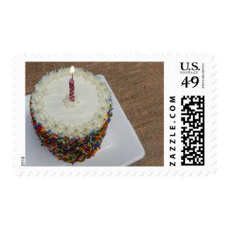 Sprinkle Cake Birthday Postage
