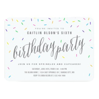 Girls birthday invitations tropical papers sprinkle confetti birthday party invitations filmwisefo Gallery