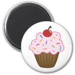 Sprinkle Cupcake 2 Inch Round Magnet