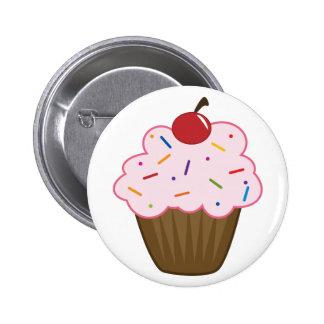 Sprinkle Cupcake 2 Inch Round Button