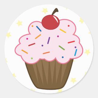 Sprinkle Cupcake Classic Round Sticker
