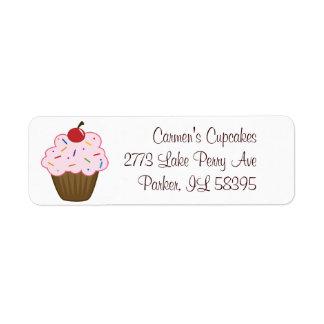 Sprinkle Cupcake Label