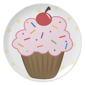 Sprinkle Cupcake Melamine Plate