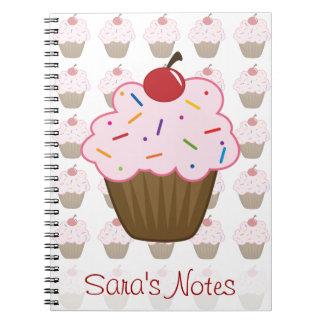 Sprinkle Cupcake Spiral Notebook