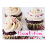 Sprinkle Cupcakes Happy Birthday Post Cards