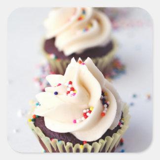 Sprinkle Cupcakes Square Sticker