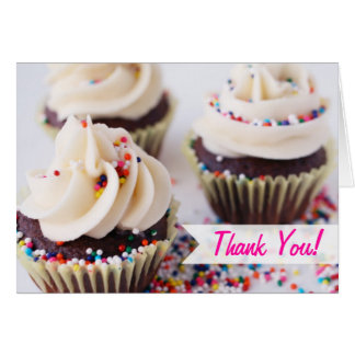 Sprinkle Cupcakes Thank You Card
