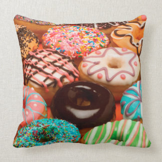 Sprinkle Donuts, Sprinkled Doughnuts, Colorful Pillow