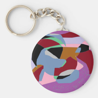 Sprinkle Hearth Basic Round Button Keychain