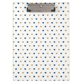Sprinkle Hearts (Navy/Gold) Clipboard