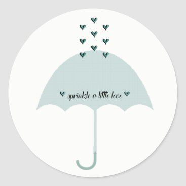 McTiffany Tiffany Aqua Sprinkle Love Blue Tiffany Shower Party Stickers