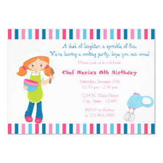Sprinkle of Fun Baking Girls Birthday Invitation