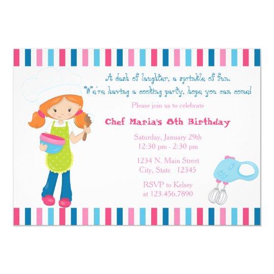 Sprinkle of fun baking girls birthday invitation zazzle sprinkle of fun baking girls birthday invitation filmwisefo