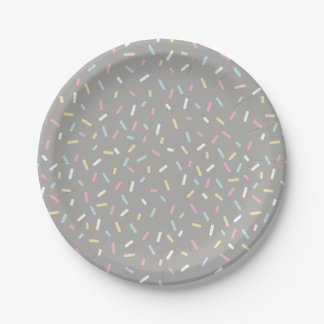 Sprinkle Party Plate (gray)