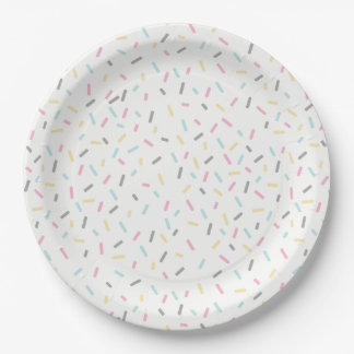 Sprinkle Party Plates (White)