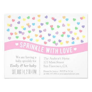 Sprinkle with Love Baby Sprinkle Invitations