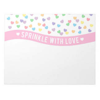 Sprinkle with Love Colourful Hearts Note Pad