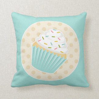 Sprinkled Cupcake Accent Pillow