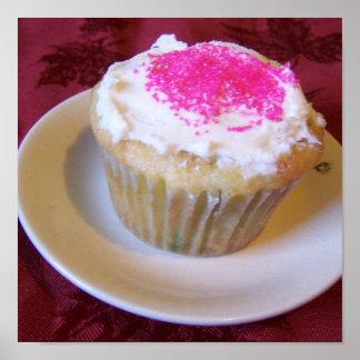 sprinkled cupcake Poster