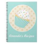 Sprinkled Cupcake Recipe Notebook
