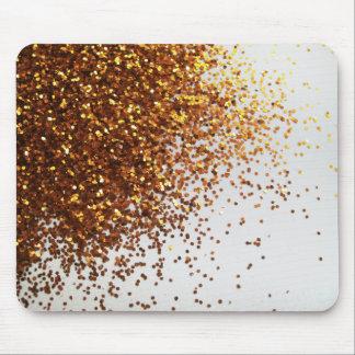 Sprinkled Gold Glitter Graphic Horizontal Mousepad