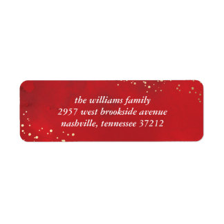 Sprinkled Joy Faux Foil Christmas Holiday Label