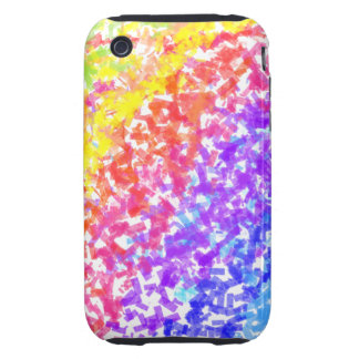 Sprinkled with Color Abstract Rainbow Splash Tough iPhone 3 Covers